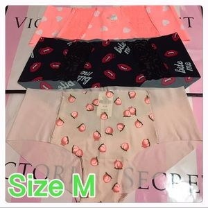 PACK OF 3 VICTORIA'S SECRET PINK NO SHOW HIPSTER/M